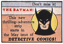 ¿En qué año apareció por primera vez Batman en los comics?