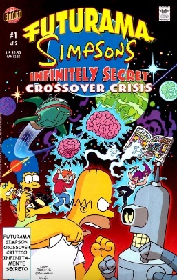 Futurama simpsons infinitely secret crossover crisis 1
